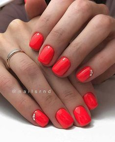 69 Super Easy Nail Designs MenuHomeBeautyFashionHealthLifestyleLoveCelebritiesDo you need a simple yet beautiful and spring design? Maybe you're all out of ideas and n Neon Orange Nails, Neon Nails, White Nails, Bright Orange Nails, Orange Nail Designs, Simple Nail Designs, Hair And Nails, My Nails, Gel Nails At Home