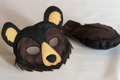 Bronson the Black Bear Woodland Mask and Tail for Pretend Play Costume