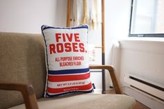 Farine Five Roses Pillow Something To Do, Throw Pillows, Future, Rose, Home Decor, House, Cushions, Future Tense, Pink
