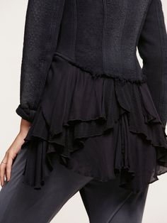 Free People Military Ruffles Jacket at Free People Clothing Boutique