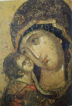 Theotokos and the Christ Child Byzantine Icons, Byzantine Art, Religious Icons, Religious Art, Russian Icons, Madonna And Child, High Art, Orthodox Icons, Blessed Mother