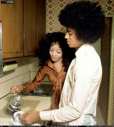 Michael Jackson and Sister, Latoya at their apartment in Lower Manhattan (NYC) -they had an apartment on the 33rd floor of sutter apartments)