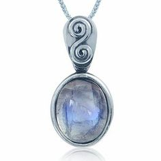 Amazon.com: Natural Moonstone 925 Sterling Silver Balinese Pendant: Jewelry