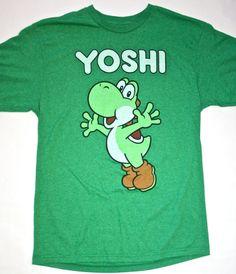 Vintage Nintendo Green Yoshi Gamer Shirt.