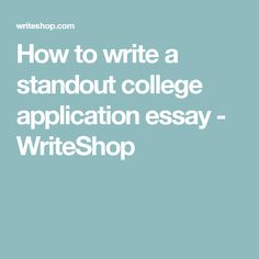 write essay about yourself example