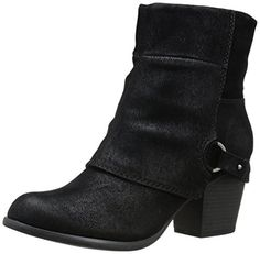 Fergalicious Womens Liza Boot Black 8 US8 M US *** Read more reviews of the product by visiting the link on the image.