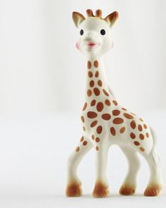 Sophie the Giraffe  This tall-necked teether makes noise when it's squeezed, and its smooth material soothes Baby's tender gums.  Giraffe Baby Teether Brand: The Land of Nod Price: $24.95 Store: The Land of Nod