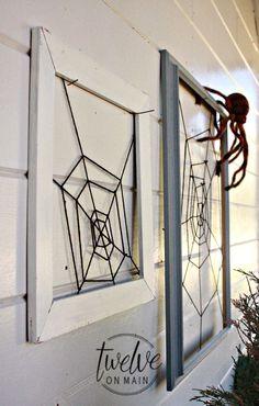 DIY Framed Spider Web