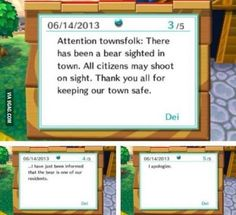 …I thought animal crossing was a children's game with no guns.