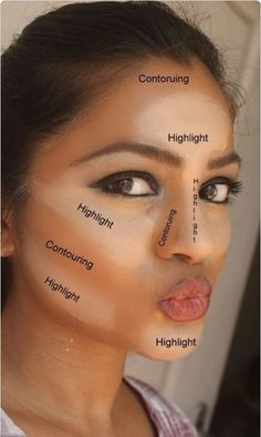 Highlighting and contouring | Makeup | Beauty