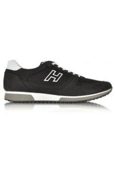 Hogan Black Fabric and Suede Sneaker #modasto #giyim #erkek https://modasto.com/hogan/erkek/br4941ct59