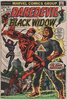Daredevil V1 97.  FN/VF.  Mar 1973.  Marvel by RubbersuitStudios #daredevil #stevegerber #comicbooks