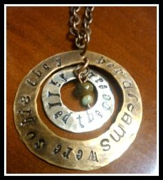 """""""Her Dreams were so big they filled the ocean"""" Hand Stamped Jewelry www.sweetcarolineoriginals.com"""