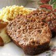 Restaurant-Style Meatloaf (No Bread Crumbs) Restaurant-Style Meatloaf (No Bread Crumbs) t has a wonderful mellow blend of flavors that makes it really taste like it came from a restaurant. It's unusual in that in doesn't use bread crumbs as a filler and t No Carb Recipes, Gourmet Recipes, Beef Recipes, Cooking Recipes, Healthy Recipes, Medifast Recipes, Healthy Meals, Yummy Recipes, Low Carb Meatloaf
