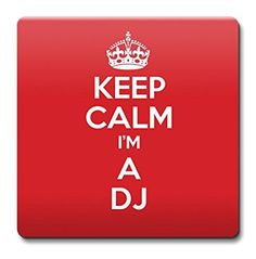 KEEP CALM I'm a DJ Coaster - Coffee Cup Gift Idea present jobs