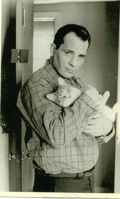 Jack Kerouac and cat
