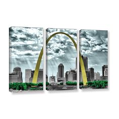 St. Louis by Revolver Ocelot 3 Piece Gallery-Wrapped Canvas Set