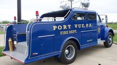 us REO F-20 Port Vue,PA Fire Rescue Vehicle 1953. Kept in pristine condition by private owner. One of more beautiful pieces of its class and time …