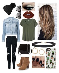 """""""Black Beanie"""" by magoo3514 ❤ liked on Polyvore featuring Black, 3x1, Gap, Nine West, Rebecca Minkoff, Lime Crime, Alexander McQueen, Casetify, Humble Chic and Nordstrom"""