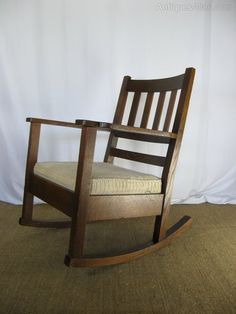 Arts And Crafts Mission Rocking Chair - Antiques Atlas