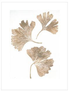 Ginko Gold Print (30x40cm) by Pernille Folcarelli
