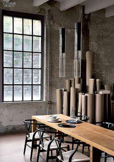 INTERIOR DESIGN — Iron-framed windows inside architect Marco Vido's...