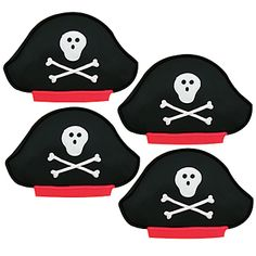 Our Pirate Hat Decorated Cookies features vanilla flavored cookies that are shaped like and colored of pirate hats. Combine them with Personalized #PIrateParty Favor Bags, also found on our Pinterest Board