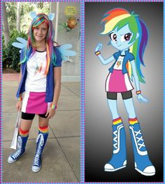 Equestria Girl Rainbow Dash **First place winner of Gameloft's Ponify Yourself costume contest in the Rainbow Dash category.