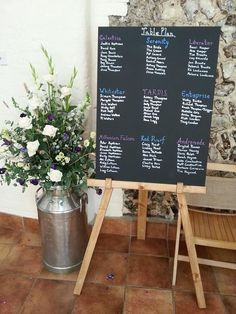 Rustic Wedding Large Chalk Board And Pine Easel - Table Plan