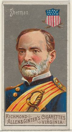 13 best william t sherman images on pinterest america civil war trade card from the 1888 allen ginters great generals fandeluxe Gallery