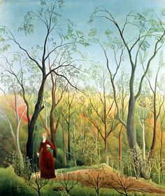 The Walk In The Forest Painting by Henri Rousseau