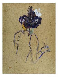 Jane Avril   Jane Avril, Back-View, circa 1891-1892 Giclee Print by Henri de ...