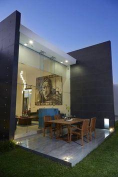 deck: Casas de estilo minimalista por arketipo-taller de arquitectura