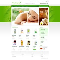 Products for Health  OpenCart Template