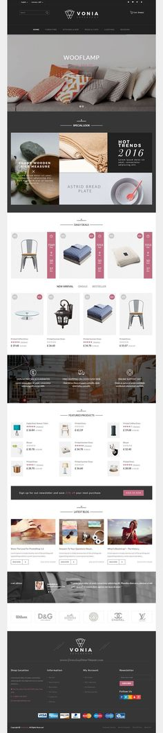 Vonia Responsive Prestashop Theme is dedicated to interior design and furniture Shop Website. It comes with 4 stunning homepage layouts.