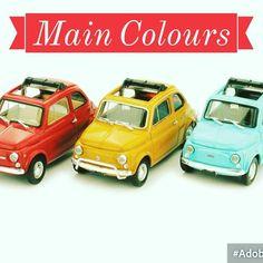 Main Colours http://ift.tt/1lxIEna #cinquecento #fiat500 #fiat500nelmondo #cinquecento#colours #maincolours