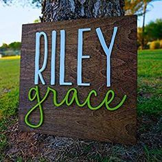 Square Wood Sign Personalized Nursery Name Sign Baby Shower Gift Wall Art Personalized Sign Established Sign Wooden Signs Nursery Name, Nursery Signs, Nursery Room Decor, Wooden Letters, Wooden Signs, Established Sign, Thing 1, Personalized Wall Art, Paint Background