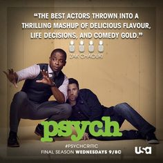 Via  #Psych  · 3/6/14    Word to the wise: don't let Shawn and Gus influence your life decisions.  Want a chance to be featured here? Tweet your best one-line review after next week's episode with #PsychCritic.