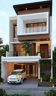 House Outer Design, Modern Small House Design, Modern Exterior House Designs, Modern House Facades, Modern Villa Design, House Front Design, Modern House Plans, Simple House Design, Minimalist House Design