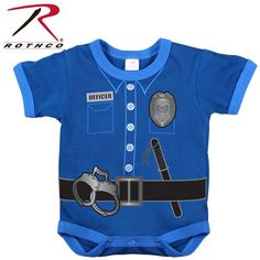 Police or Firefighter Onsie - Infant One Piece Uniform