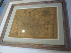 Distressed wood frame-print-antique map of Yorkshire Distressed Wood Frames, How To Distress Wood, Wood, Distressed, Wood Frame, Frame, Home Decor, Framed Prints