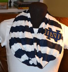 Notre Dame Game Day Infinity Scarf Black & Natural by byrdlegs, $25.00 @Amy Kanarios