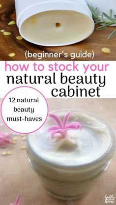 There's really no reason NOT to use homemade natural skincare products, since they are so economical and effective! Here's the perfect beginner's list for stocking an all natural beauty cabinet. Homemade Deodorant, Homemade Moisturizer, Homemade Skin Care, Homemade Beauty, Beauty Hacks Skincare, Diy Beauty, Beauty Products, Beauty Tips, Drugstore Beauty