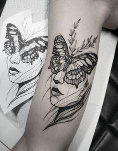 18 Female Tattoo Ideas Butterfly Back - tatoo feminina Body Art Tattoos, Tribal Tattoos, Girl Tattoos, Tattoos For Guys, Sleeve Tattoos, Tatoos, Female Leg Tattoos, Chest Tattoos For Women, Shoulder Tattoos For Women