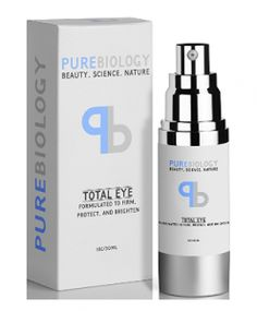 "Pure Biology ""Total Eye"" Anti Aging Eye Cream Infused with Instant Lift Technology & Baobab Fruit Extract - Instant Firming & Long Term Reduction in Wrinkles, Bags & Dark Circles oz. Retinol Eye Cream, Beauty Science, Reduce Dark Circles, Anti Aging Eye Cream, Under Eye Bags, Even Skin Tone, Eye Serum, Skin Firming, Inevitable"