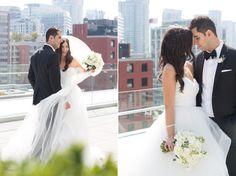 Malaparte Terrace bride & groom on rooftop, love the bride's Hayley Paige dress! Hayley Paige, Toronto Wedding Photographer, Rooftop, Bride Groom, Perfect Wedding, Terrace, Wedding Planner, Boston, Wedding Photography