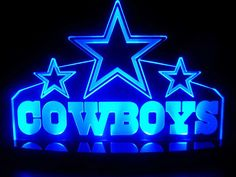 NFL Dallas Cowboys LED Desk Lamp Night Light Beer Bar by ambangkok, $59.95...Love it!!!