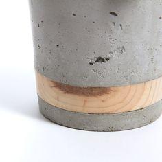 Large Concrete Planter Pine Band by WasatchCreative on Etsy Cement Art, Concrete Cement, Painting Concrete, Concrete Crafts, Concrete Projects, Concrete Design, Large Concrete Planters, Concrete Casting, Concrete Sculpture