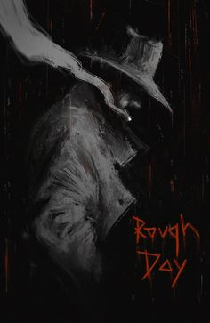 cowboys from hell, cowboy, shooter, western, smoke, rain, western movie, poster, art, digital art