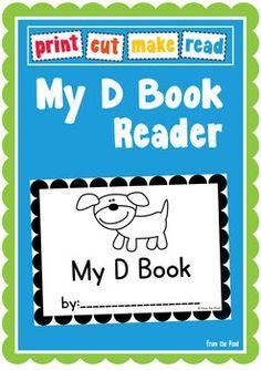 My D Book -  Printable Reader - Print Cut Make and READ